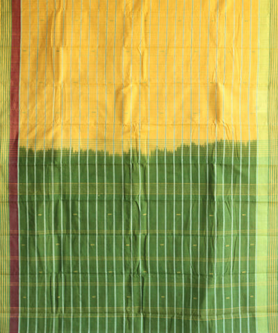 yellow green dobby border natural dye muslin khadi cotton sarees