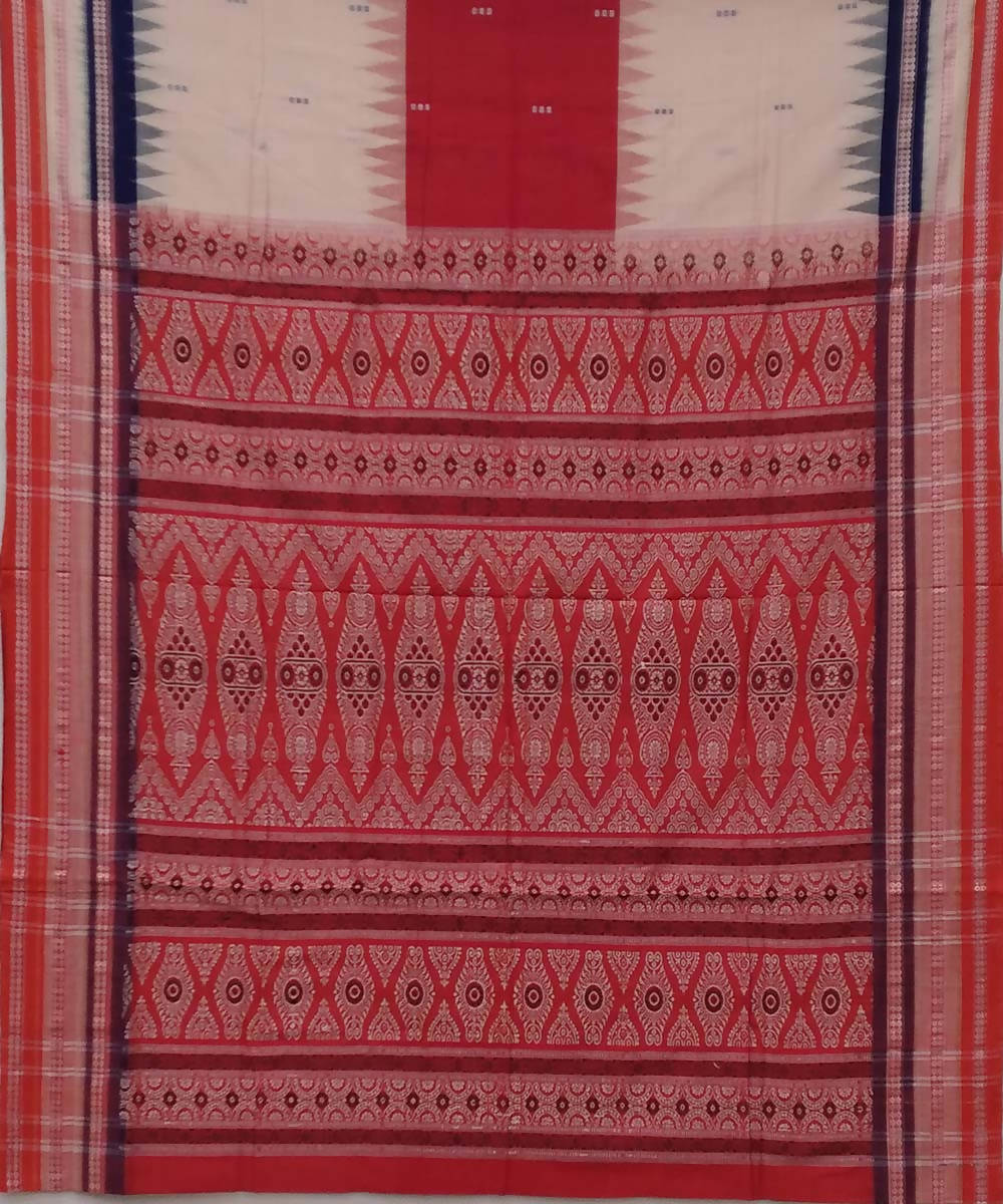 Multicolour handwoven bomkai cotton saree