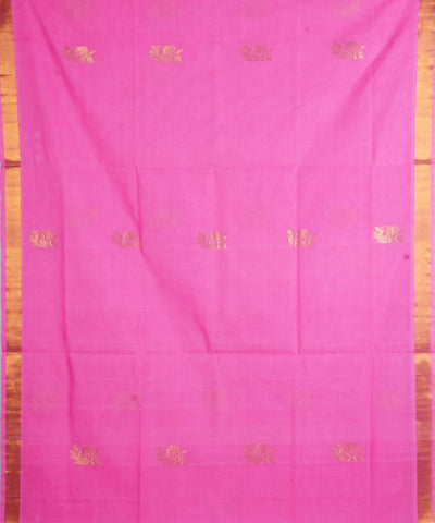 Light Pink Handloom Venkatagiri Cotton Saree