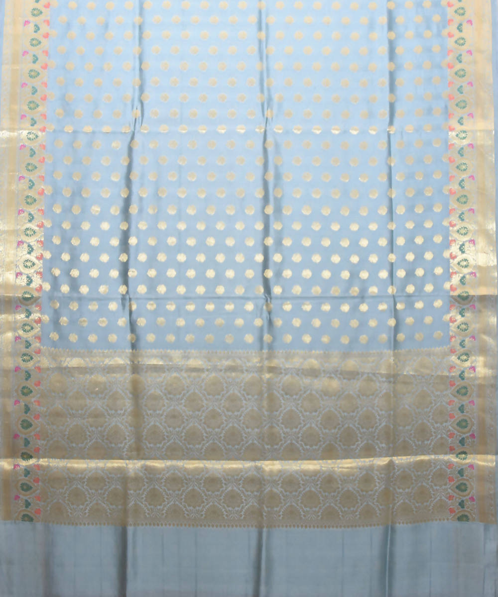 Banarasi Light Blue Handloom Silk Saree