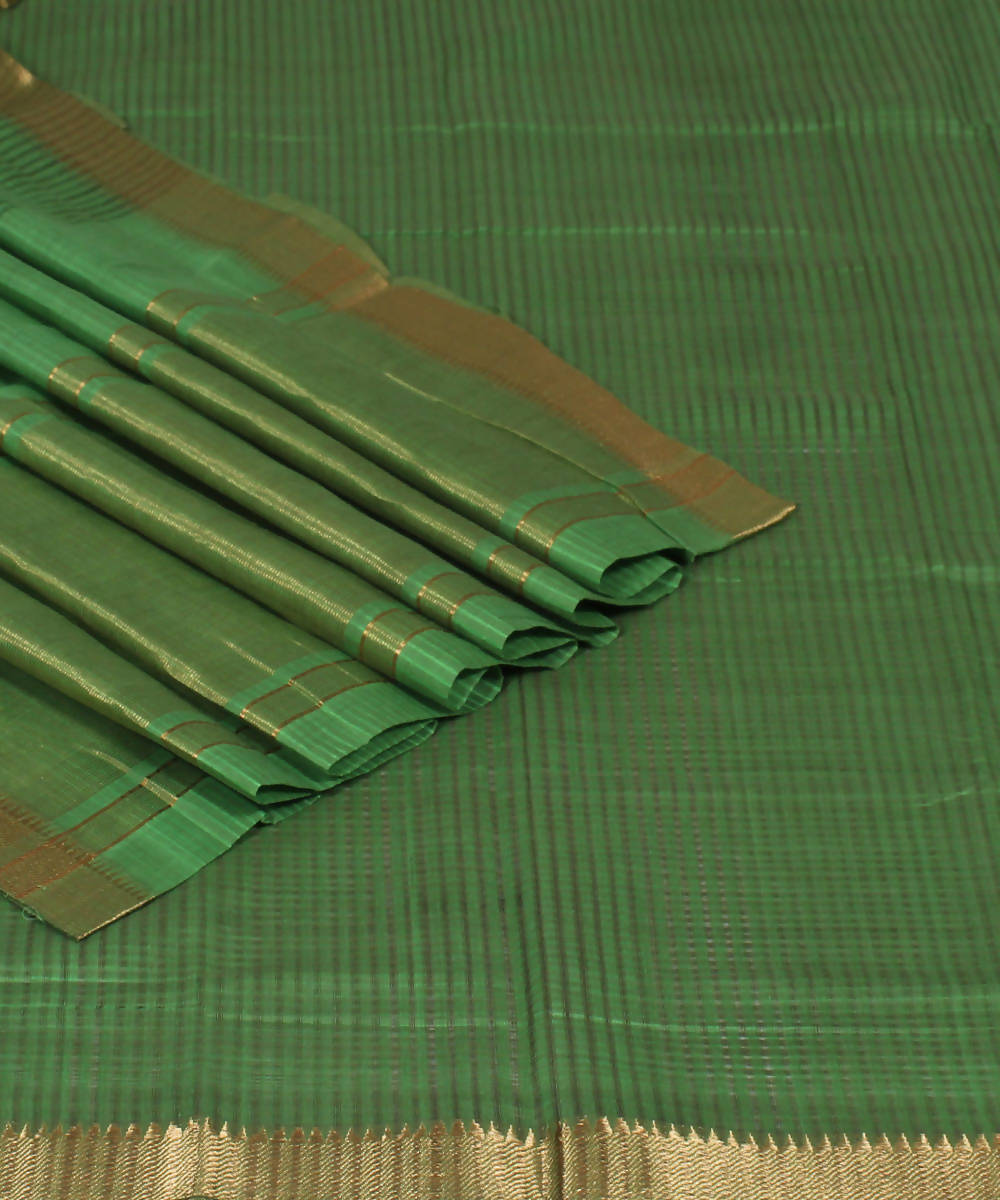 Handloom Green Mangalgiri Cotton Saree