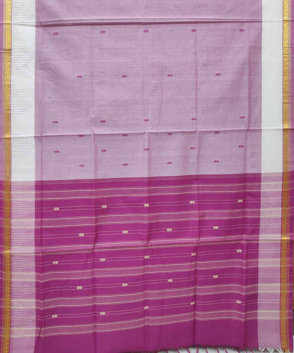 Powder pink handloom cotton venkatagiri saree