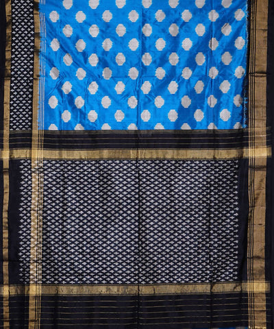 Handloom Sky Blue Pochampally Silk Saree