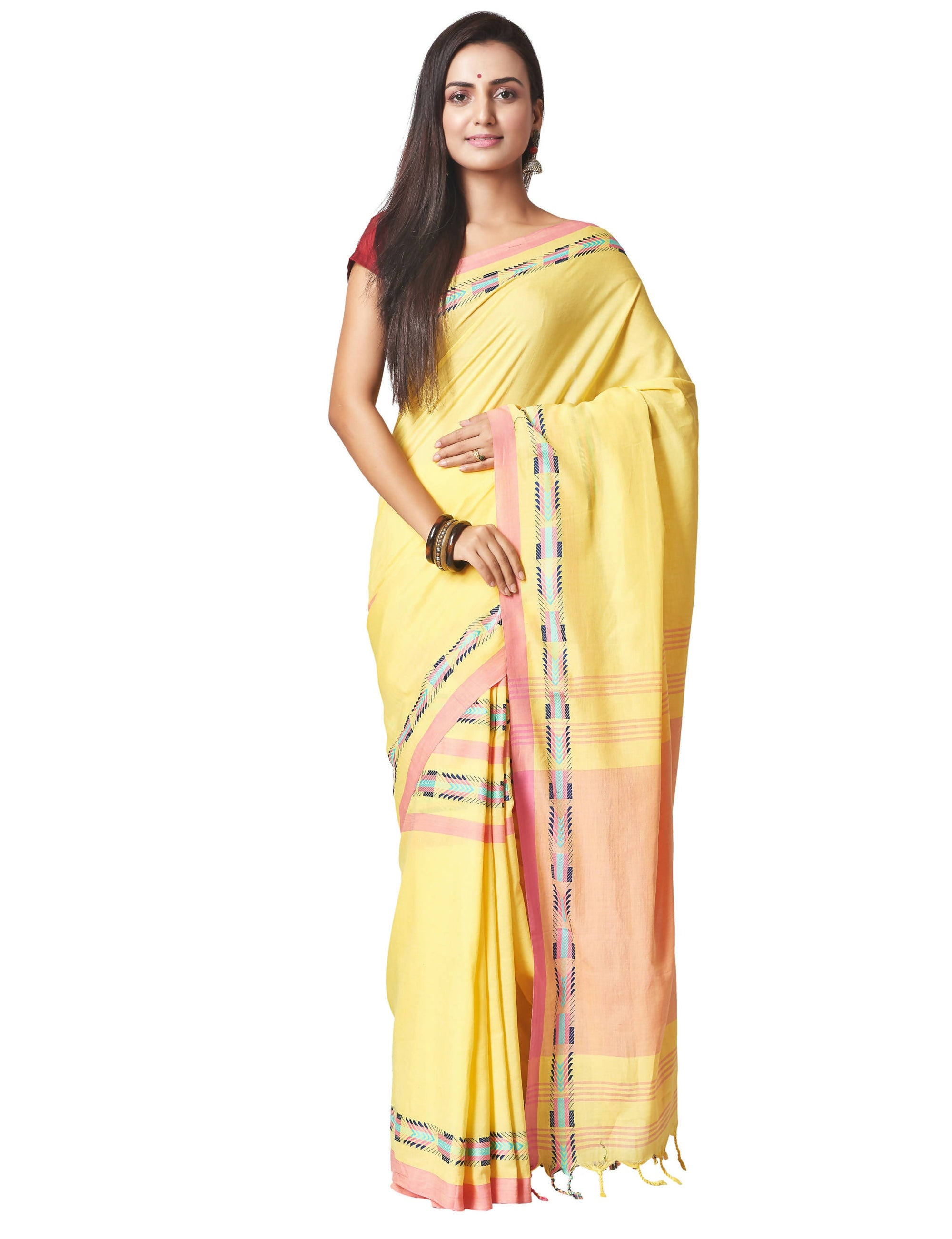 Biswa Bangla Women's Cotton Saree