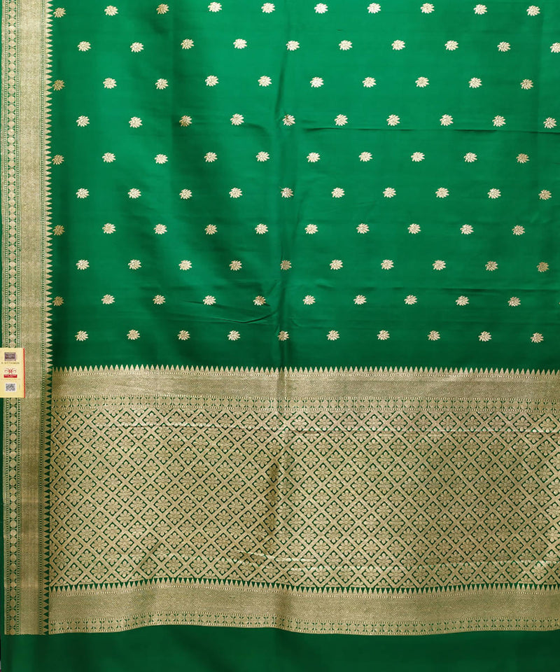 Banarasi Katan Silk Green Handloom Saree
