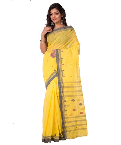 Handloom Bengal Yellow Cotton Saree