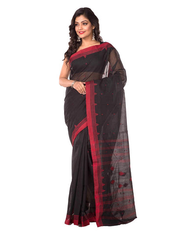 Handloom Black Bengal Cotton Saree
