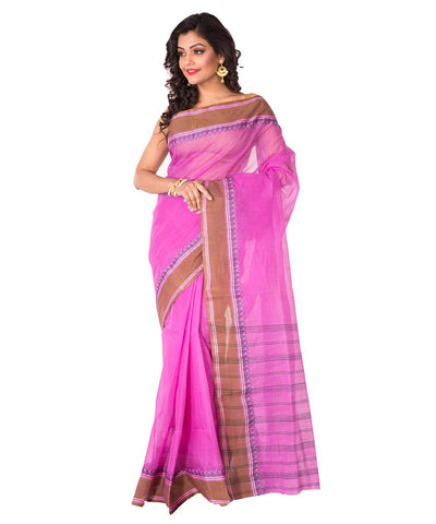 Bengal Pink Handloom Tant Cotton Saree