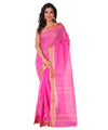 Handloom Bengal Pink Tant Cotton Saree
