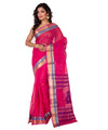 Pink Handloom Bengal Cotton Tant Saree