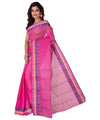 Bengal Tant Cotton Handloom Pink Saree