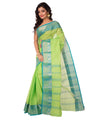 Green Bengal Handloom Tant Cotton Saree