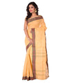 Cream Handloom Tant Cotton Saree