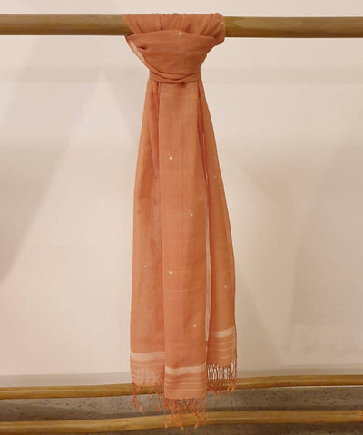 rust Brown assam handloom cotton stole