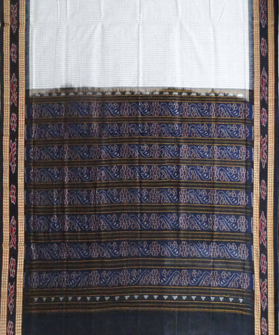 White Cotton Sambalpuri Handloom Saree