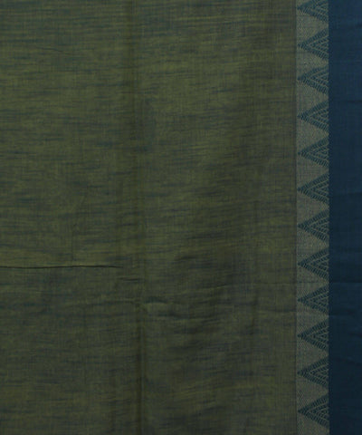 Yellow Green Handwoven Cotton Saree