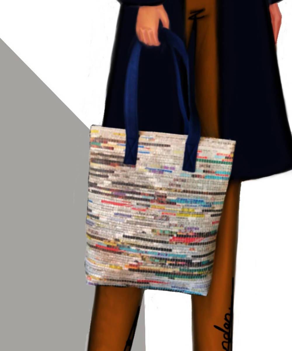 Newspaper Handmade Cotton Tote Bag
