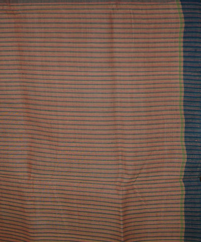 Grey Light Orange Natural Dyed Handloom Cotton Jamdani Saree