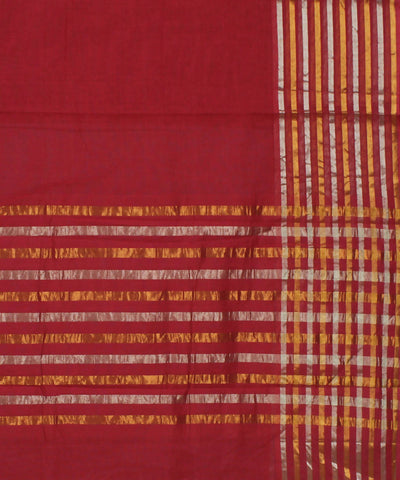Maroon Venkatagiri Handloom Cotton Saree