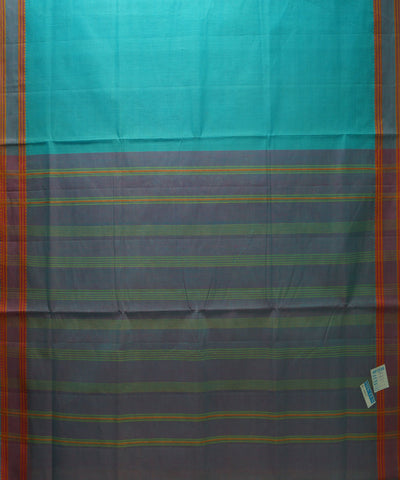 Sky Blue Handloom Organic Cotton Saree