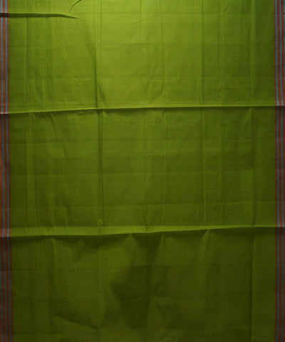 Organic Cotton Pear Green Handloom Saree