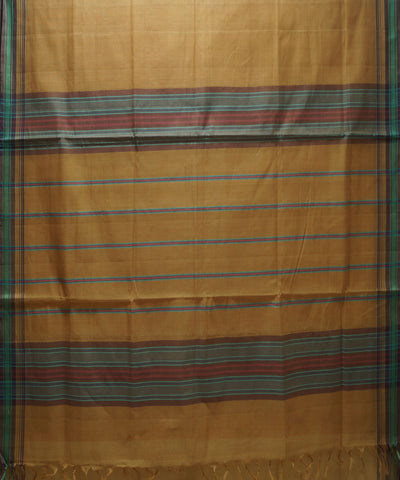 Brown Handloom Organic Cotton Saree
