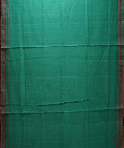 Green Red Handloom Organic Cotton Saree