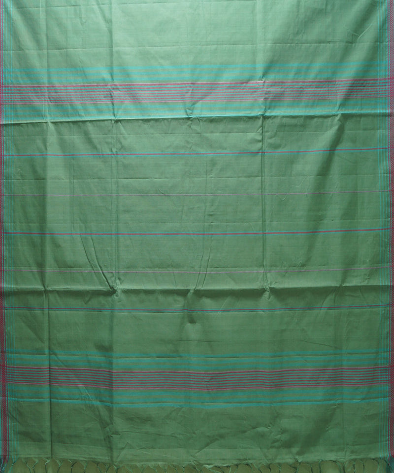 Light Green Handloom Organic Cotton Saree