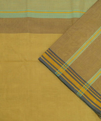 Yellow Handloom Organic Cotton Saree