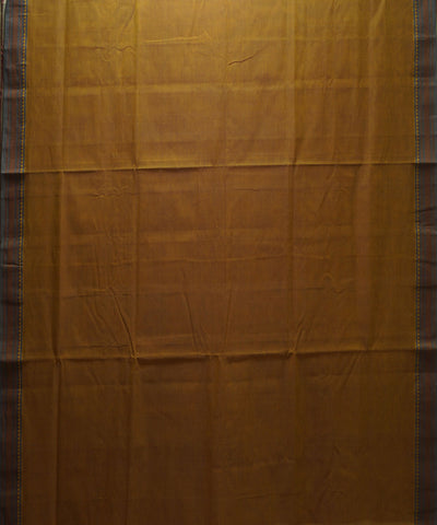 Yellow Green Handloom Organic Cotton Saree