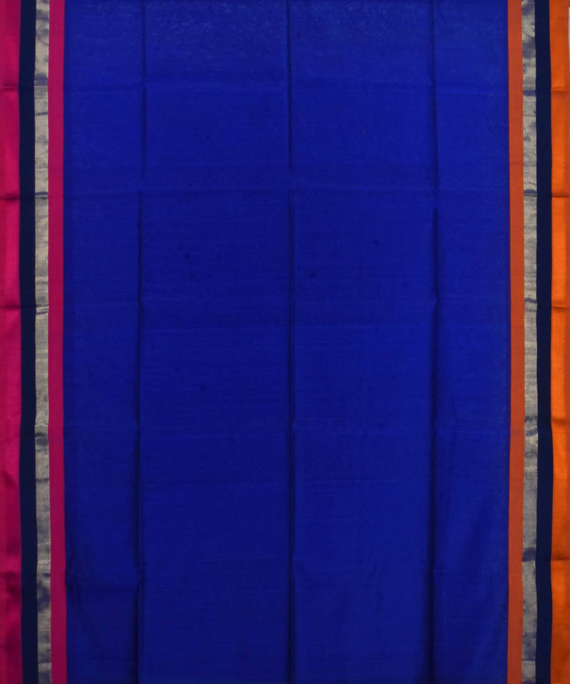 Handloom Royal Blue Maheshwari Sico Saree