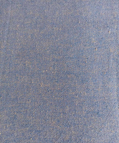 blue yellow yarn dyed handspun handwoven cotton fabric (10m per quantity)