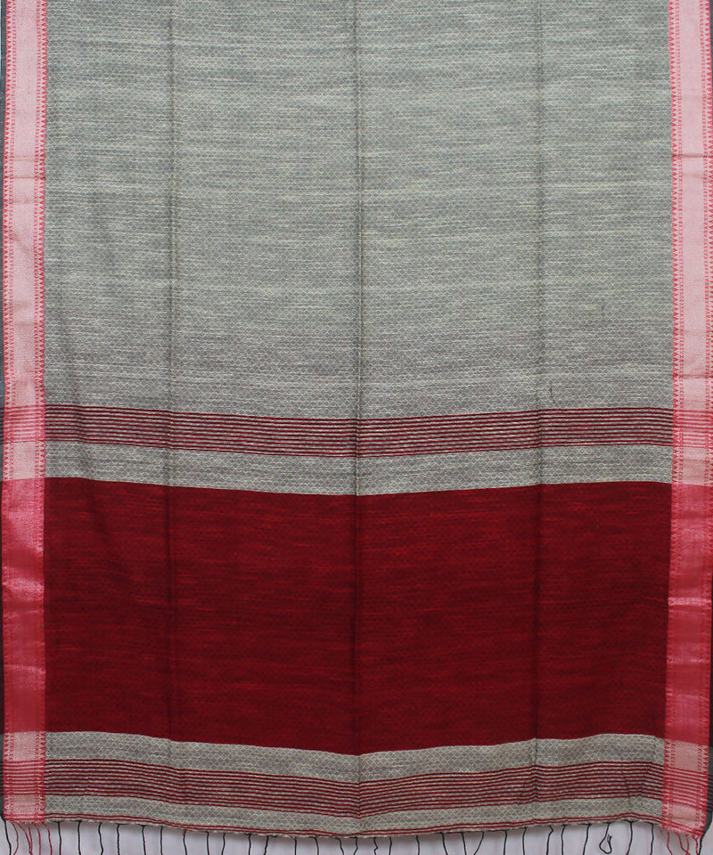 Grey Bengal Handwoven Cotton Saree