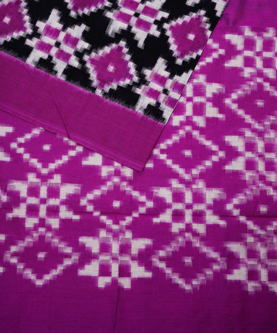 Purple Double Ikat Telia Rumal Cotton Saree