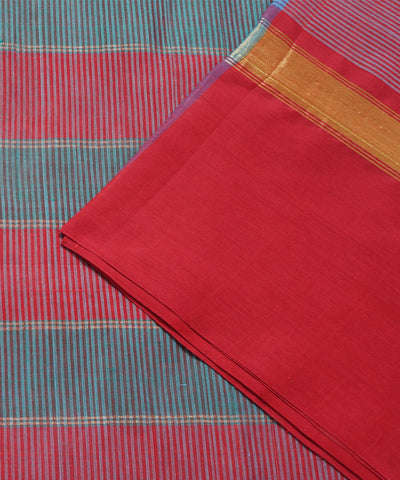 Matt Magenta Handloom Paramakudi Cotton Saree