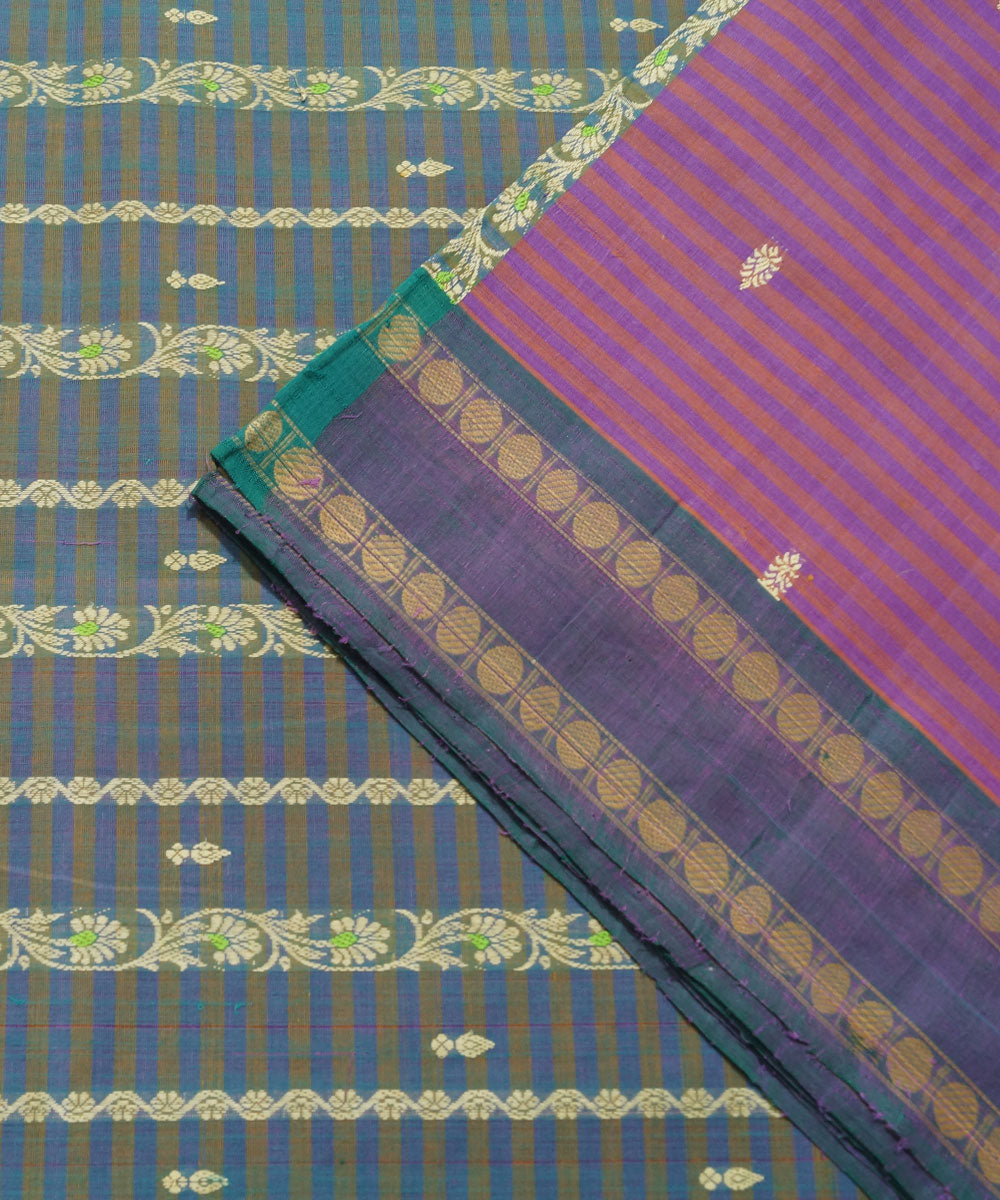 Magenta Purple Handloom Paramakudi Saree