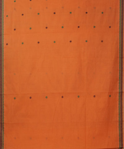 Paramakudi Orange Handwoven Saree