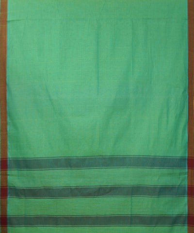 Paramakudi Green Yellow Cotton Handloom Saree