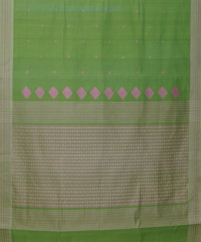 Paramakudi Parrot Green Handloom Cotton Saree