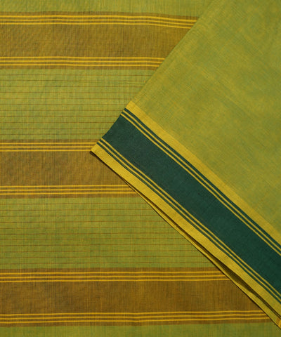 Paramakudi Olive Green Cotton Handloom Saree