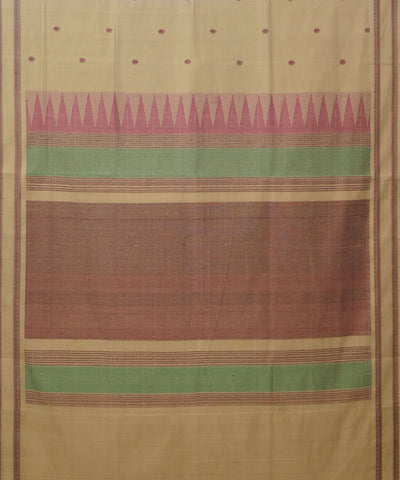 Paramakudi Dark Beige Handloom Cotton Saree
