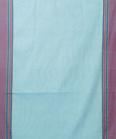 Sky Blue Handloom Paramakudi Cotton Saree