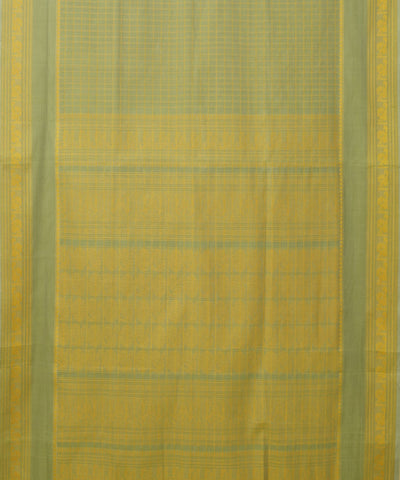 Yellow Green Handloom Paramakudi Cotton Saree