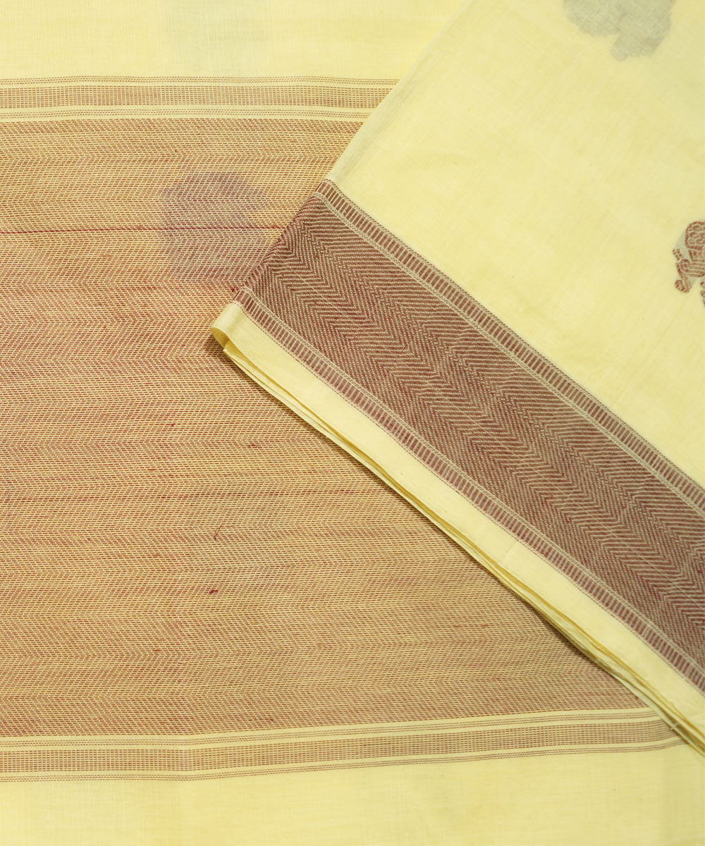Paramakudi Yellow Cotton Handwoven Saree