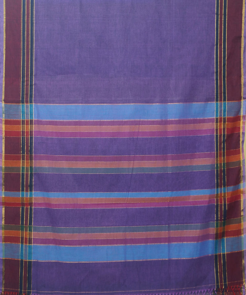 Purple Handloom Paramakudi Cotton Saree