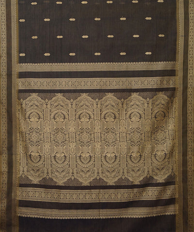 Paramakudi Coffee Brown Cotton Handloom Saree