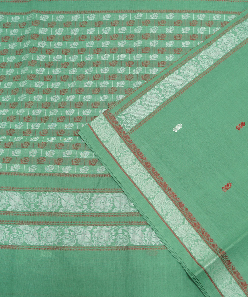 Green Handloom Paramakudi Cotton Saree