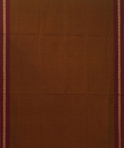 Paramakudi Cotton Handwoven Brown Saree