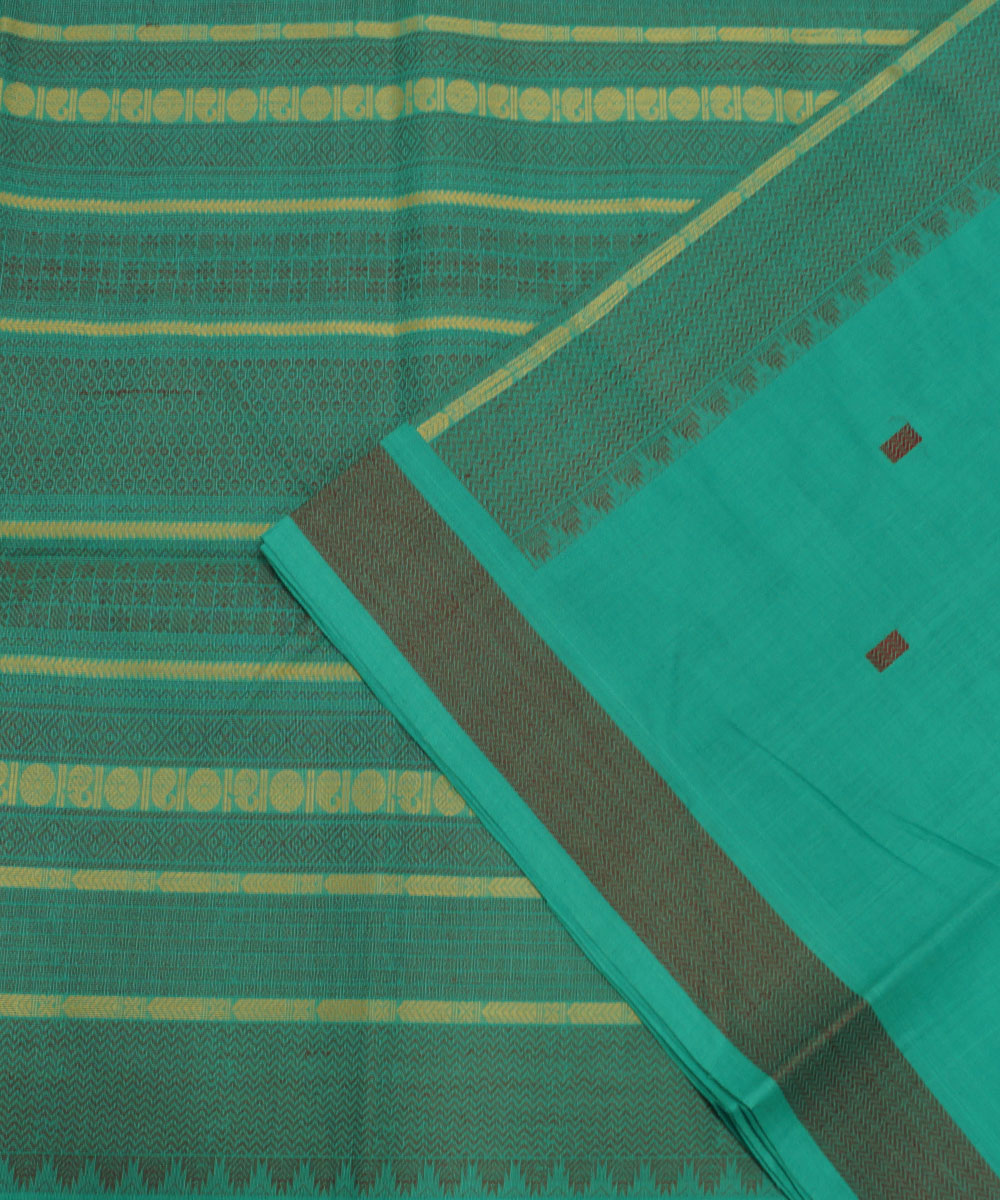 Handloom Green Paramakudi Cotton Saree