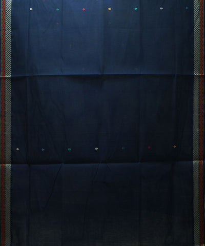 Navy Blue Handloom Paramakudi Cotton Saree